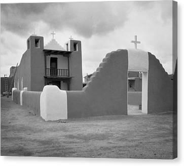 Church At Taos Pueblo Canvas Print by David and Carol Kelly