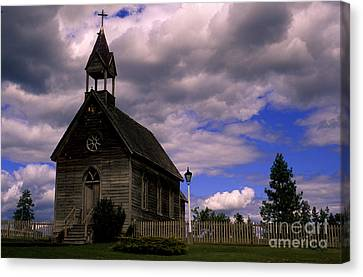 Church At The Okeefe Ranch Canvas Print by Bob Christopher