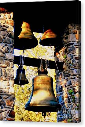 Church Bells Canvas Print by Janine Riley
