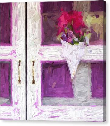 Screen Doors Canvas Print - Church Camp House Detail Painterly Series 16 by Carol Leigh