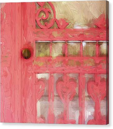 Screen Doors Canvas Print - Church Camp House Detail Painterly Series 18 by Carol Leigh
