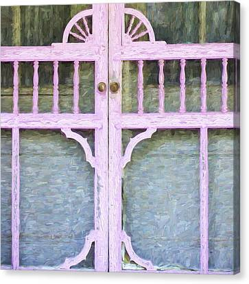Screen Doors Canvas Print - Church Camp House Detail Painterly Series 9 by Carol Leigh
