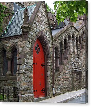 Canvas Print featuring the photograph Church Door by Val Miller
