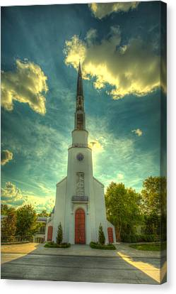 Church Eclipse Canvas Print