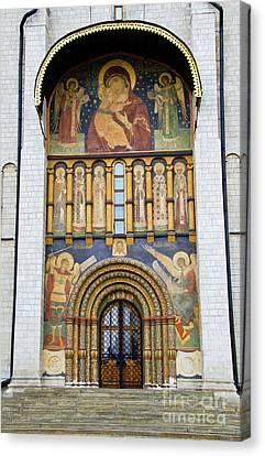 Church Fresco Canvas Print by Pravine Chester