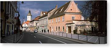 Church In A City, Black Church, Brasov Canvas Print by Panoramic Images
