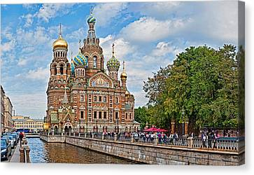 Church In A City, Church Of The Savior Canvas Print by Panoramic Images