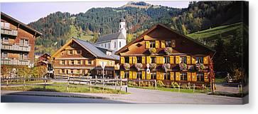 Vorarlberg Canvas Print - Church In A Village, Bregenzerwald by Panoramic Images