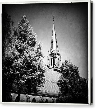 Church In Black And White Canvas Print by Matthias Hauser