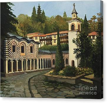 Church In Blagoevgrad Canvas Print by Kiril Stanchev