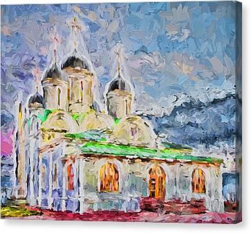 Church In Colours Canvas Print