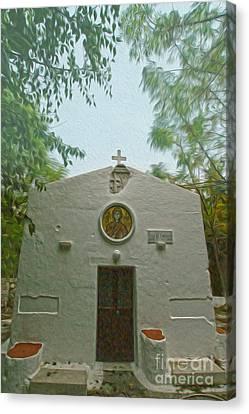 Church In Kos Canvas Print by Nur Roy
