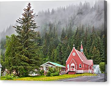 Church In Seward Alaska Canvas Print