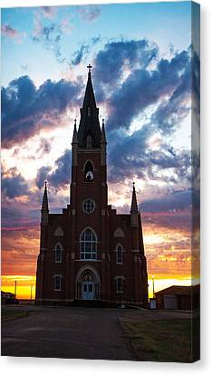 Canvas Print featuring the photograph Silouette Of Faith by Shirley Heier