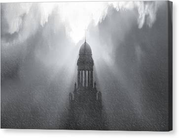 Church In The Storm Canvas Print