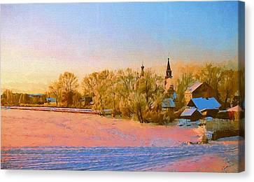 Church In Winter 2 Canvas Print
