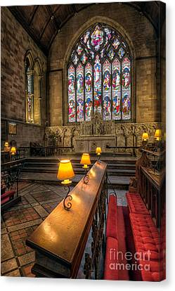 Church Lamps Canvas Print by Adrian Evans