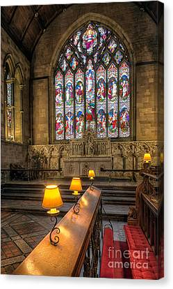 Church Lamps V2 Canvas Print by Adrian Evans