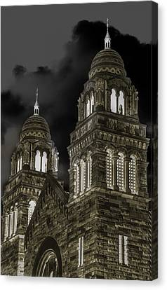 Church Lights On St. Peter Cathedral Canvas Print by Optical Playground By MP Ray