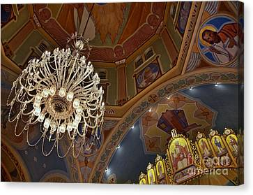 Canvas Print featuring the photograph Church Lights by Sarah Mullin