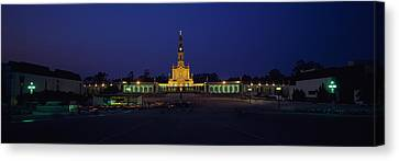 Church Lit Up At Night, Our Lady Of Canvas Print by Panoramic Images