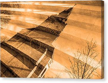 Church Mixed With Staircase Canvas Print