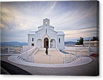 Church Of Croatian Martyrs In Udbina Canvas Print by Brch Photography