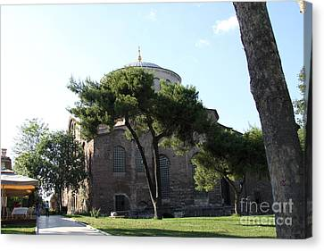 Church Of Hagia Eirene I - First Courtyard Topkapi Palace Canvas Print by Christiane Schulze Art And Photography