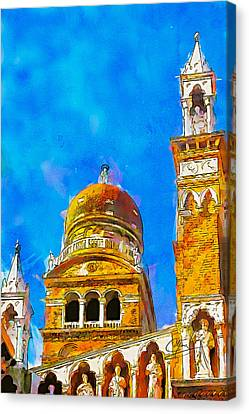 Canvas Print featuring the painting Church Of Madonna Dell'orto by Greg Collins