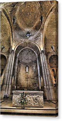 Icon Byzantine Canvas Print - Church Of St. Anne - Jerusalem by Stephen Stookey