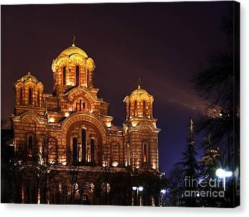 Church Of Sveti Marko Canvas Print by Zoran Berdjan