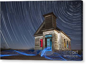 Church Of Taiban Canvas Print by Keith Kapple