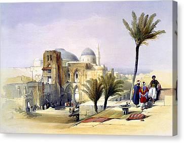Church Of The Holy Sepulchre In Jerusalem Canvas Print by Munir Alawi