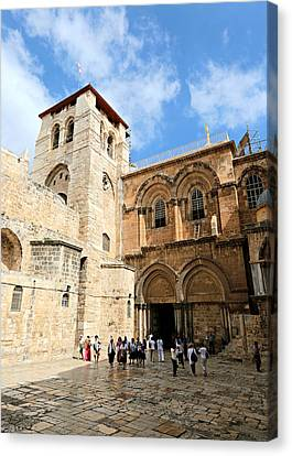 Church Of The Holy Sepulchre Canvas Print by Stephen Stookey