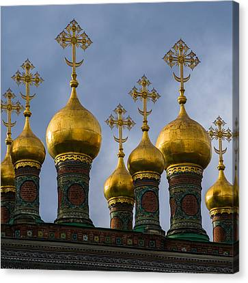Church Of The Nativity Of Moscow Kremlin - Square Canvas Print by Alexander Senin