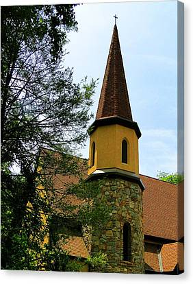 Church Of The Prodigal Canvas Print by Pat Neely Stewart