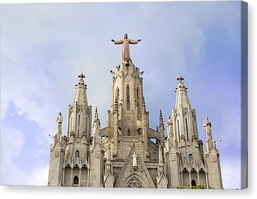 Church Of The Sacred Heart Tibidabo Barcelona  Canvas Print by Marek Poplawski