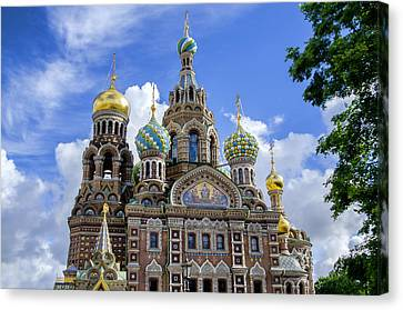St John The Russian Canvas Print - Church Of The Spilled Blood - St Petersburg Russia by Jon Berghoff