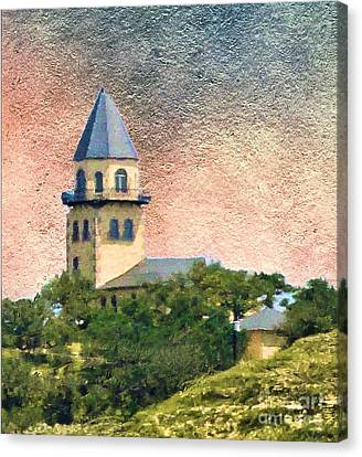 Church On Hill Canvas Print