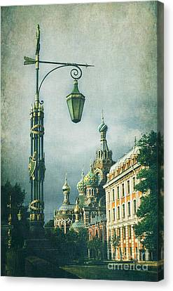Church On Spilled Blood Canvas Print by Elena Nosyreva