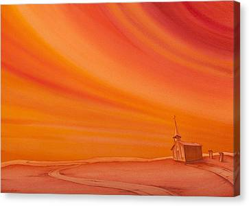 Church On The Edge Canvas Print by Scott Kirby