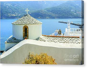 Church On The Hill Canvas Print by David Birchall