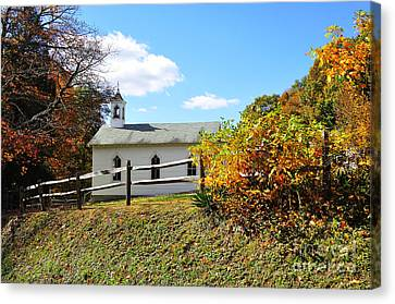 Church On The Mountain Canvas Print by Thomas R Fletcher