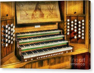 Church Organ Art Canvas Print by Ian Mitchell