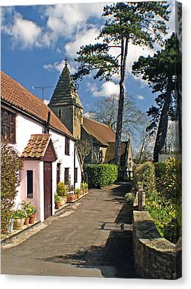 Church Path - Kenn - Somerset Canvas Print by Rachel Down