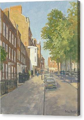 Church Row, Hampstead Oil On Canvas Canvas Print by Julian Barrow