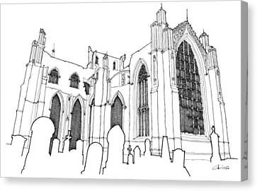 Church Ruins Canvas Print