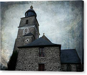 Church Saint Malo Canvas Print by Barbara Orenya
