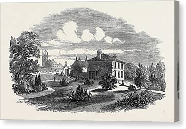 Church, Schools, And Vicarage Of St Canvas Print by English School