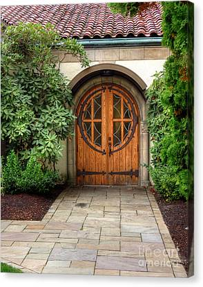 Church Side Door Canvas Print by Chris Anderson